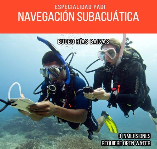 Navegación Subacuática PADI