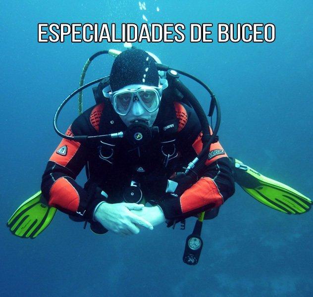 Especialidades de Buceo