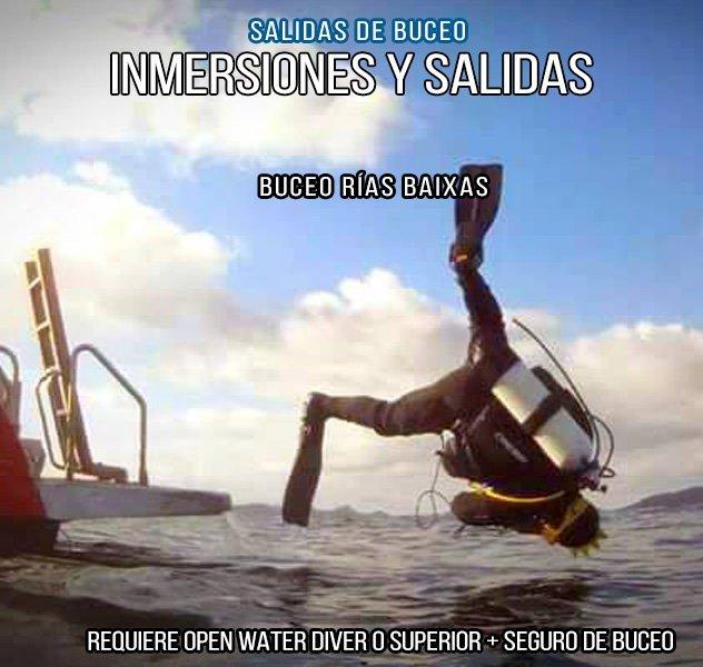 Inmersiones y salidas de buceo
